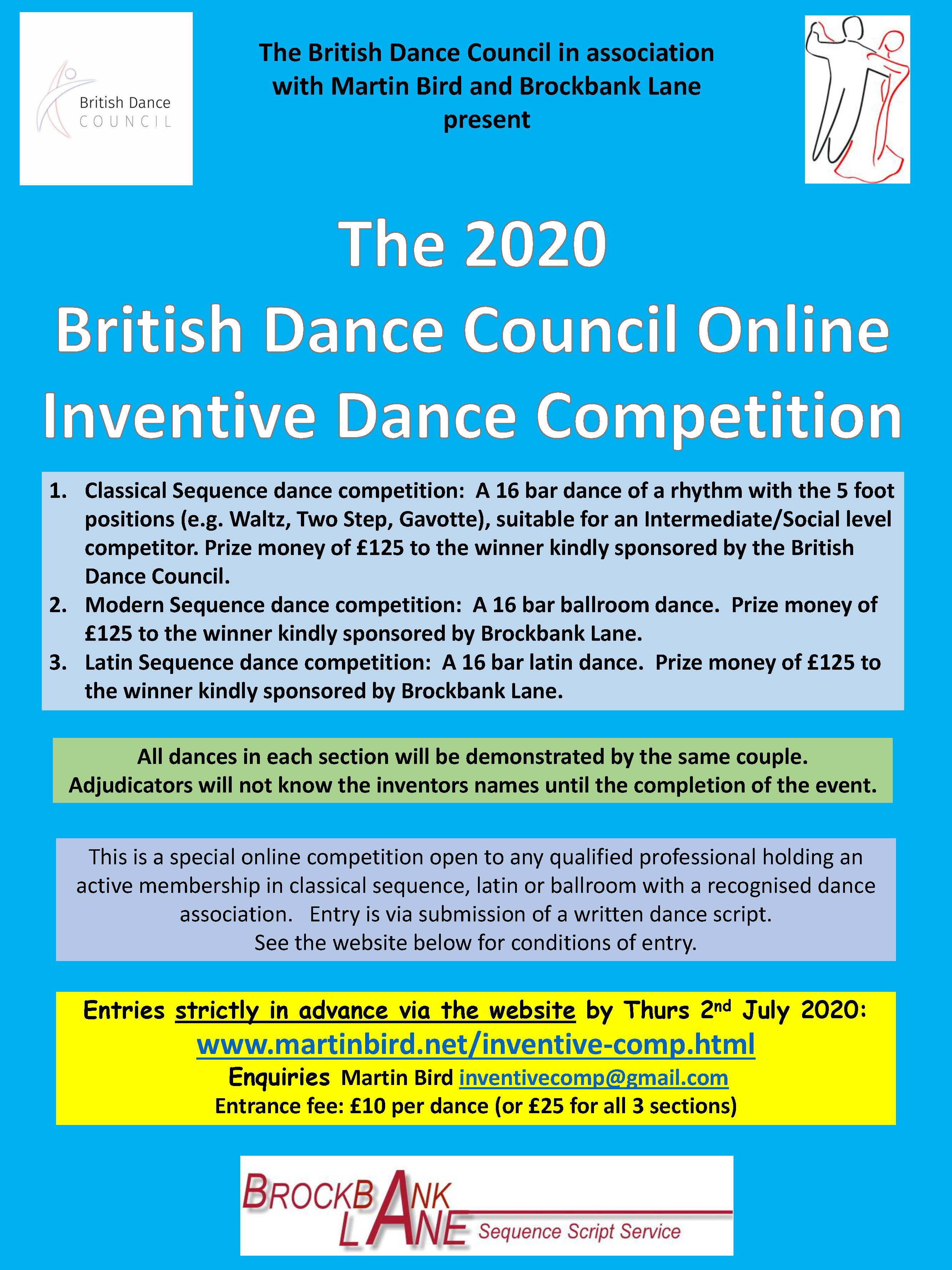 The 2020 British Dance Council Inventive Dance Competition